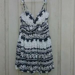 Black/White Short Summer Dress